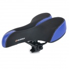 NUCKILY S003 Outdoor Cycling Ventilate Breathable Lycra + Silicone Bike Saddle - Blue + Black