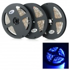 JRLED 72W 1500lm 470nm 300-SMD 3528 LED Blue Light Strips - Black + White (500cm / 3 PCS)