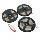 JRLED 72W 1500lm 470nm 300-SMD 3528 Tiras de luz azul LED - Negro + Blanco (500cm / 3 PCS)