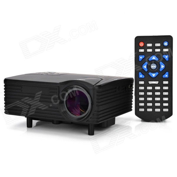 HX-100 Mini Home LED Projector w/ AV / VGA / SD / USB / HDMI - Black (US Plug) pisen mobile phone replacement 3200mah battery for samsung galaxy note 3 n9002 9006 9008 9009