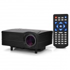 HX-100 Mini Home LED Projector w/ AV / VGA / SD / USB / HDMI - Black (US Plug)