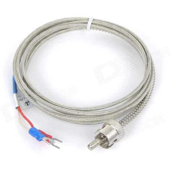 K Type Thermocouple Probe Temperature Sensor - Silver (2 meters)