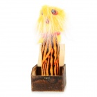 Halloween Electric Touch Wooden Box w/ Flashing Light / Horrific Sound - Wood Color + Red