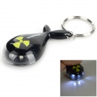 Cute Fish Shaped Plastic Keychain w/ Flashlight - Black