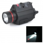 MF07R 5mW 635nm Red Laser Gun Sight w/ Weaver Mount + LED Flashlight - Black (2 x CR123A)