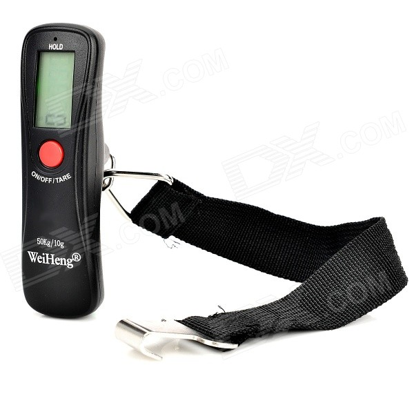 "WH-A18 Portable 1.2"" Luggage Electronic Scale - Black (1 x CR2032 / 10g~50kg)"