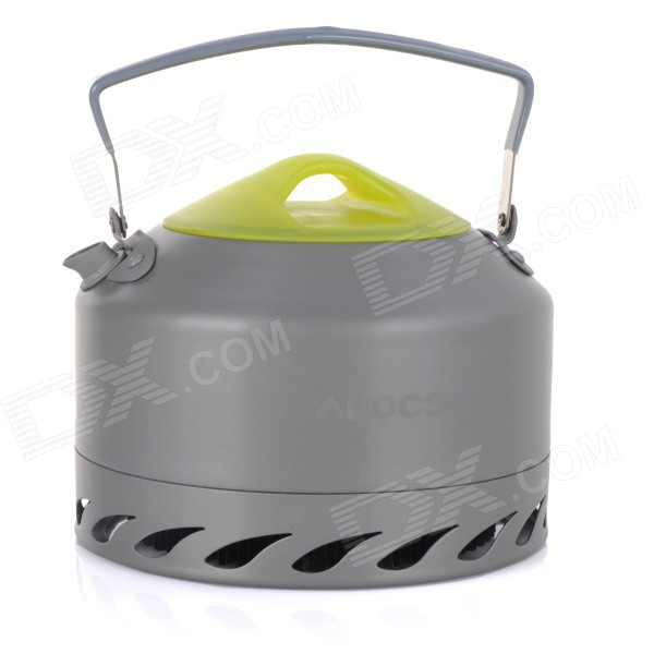 ALOCS CW-K07 Potable Outdoor Camping Water Kettle / Tea Pot - Grey + Green