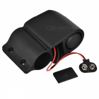 Electric Bike Bicycle Anti-theft Security Alarm w/ RC - Black