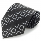 Men's Fashion Silk Decoration Necktie - Black + White