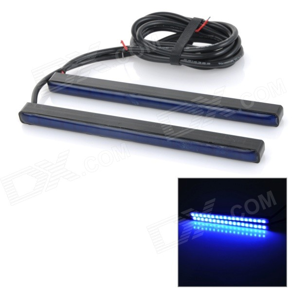 Waterproof 9W 465nm 4000MCD Blue Light 18-SMD 5730 LED Car Daytime Running Light (DC 12V / 2 PCS)