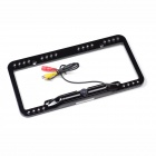 Night Vision Plate Frame Waterproof Auto Camera USA License Rearview Camera - Black