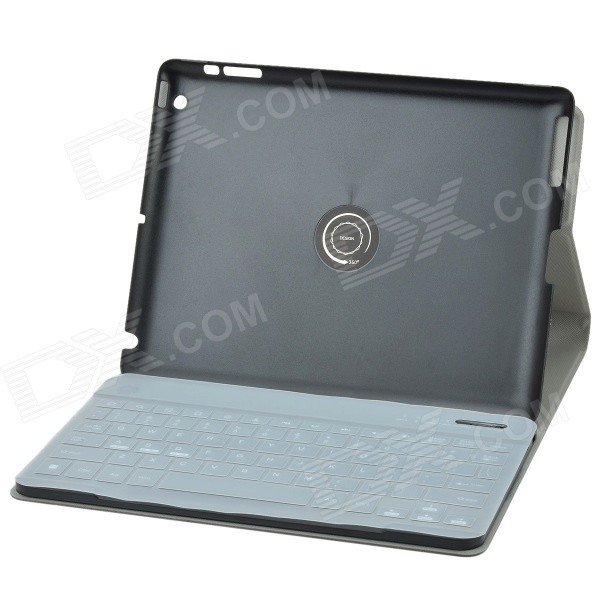 Detachable 360 Degree Rotation Bluetooth V3.0 89-Key Keyboard w/ Case for IPAD 2 / 3 / 4 - Black universal 61 key bluetooth keyboard w pu leather case for 7 8 tablet pc black