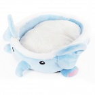 High Quality Fashion Small Elephant Style Pet Bed - Light Blue (Size M)