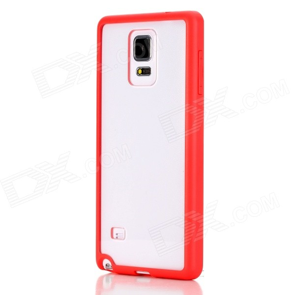 ROCK Enchanting Series Protective PC + TPU Back Shell w/ Soft Edging Case for Samsung Galaxy Note 4 protective pc tpu back case cover w stand for samsung galaxy note 4 transparent white