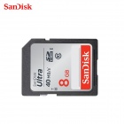 Genuine Sandisk Class 10 SDHC Memory Card R:40MB/S W:20MB/S - Black (8GB)