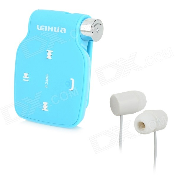 LB04 Universal Clip-on Bluetooth V3.0 In-Ear Headset w/ Microphone - Blue