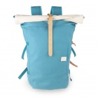 Men's Fashionable Canvas Backpack - Blue