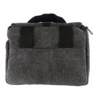 NEW-T-01-GY Delicate One-shoulder Canvas DSLR Bag - Grey (21 x 15 x 16cm)