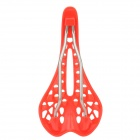 GZM-01 Stylish 40-Hole Breathable Lightweight Cool Saddle for Mountain Bike - Red