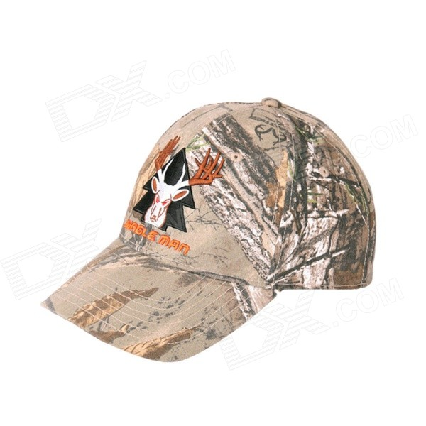 JUNGLE New Outdoor Men's Recreational Fishing Hunting Baseball Cap - Bionic Camouflage cs camouflage suits set bionic disguise uniform hunting woodland sniper ghillie suit hunting jungle military train cloth s049