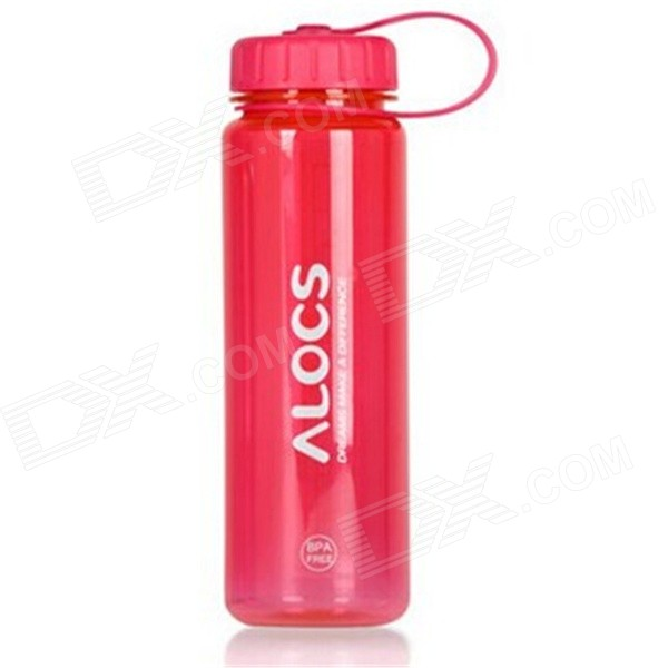 ALCOS WS-B05 Outdoor Tritan Sport Water Bottle w/ Filter Cover - Translucent Red (500mL)