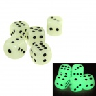 JSM Funny 1.4cm Glow-in-the-Dark Dice - Fluorescent Green (10 PCS)