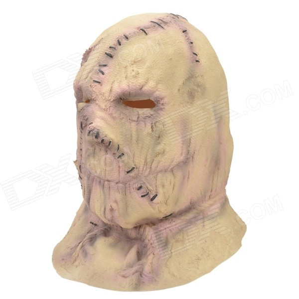 Halloween Party Cosplay Sacks Frankenstein Rubber Mask - Beige devil may cry 4 dante cosplay wig halloween party cosplay wigs free shipping
