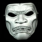 Halloween Cosplay Makeup Plastic Mask - Silver