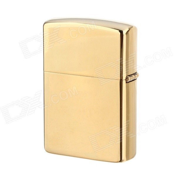 z808 Fashion Zinc Alloy Oil Windproof Lighter - Gloden