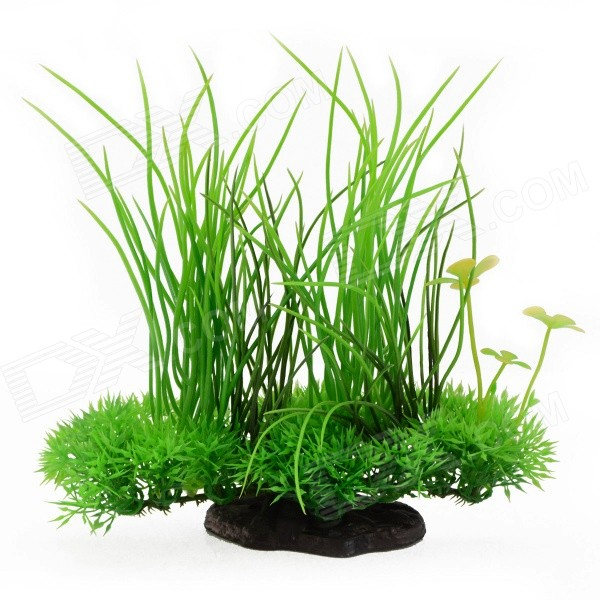 E4LH Aquarium Tank Simulation Decorative Water Plants - Black + Green