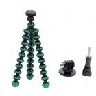 "6.5"" Mini Octopus Tripod for Camera / GoPro Hero 4 /3 / 3+ / SJ4000 / SJ5000 - Black + Green"