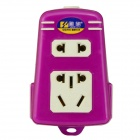 YQ-308 Flame Retardant Shell 5-Outlet AC Power Socket - Purple + White (No Wire)