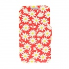 "Kinston Floral Pattern PU Leather Full Body Cover Case w/ Stand for IPHONE 6 PLUS 5.5"" - White + Red"