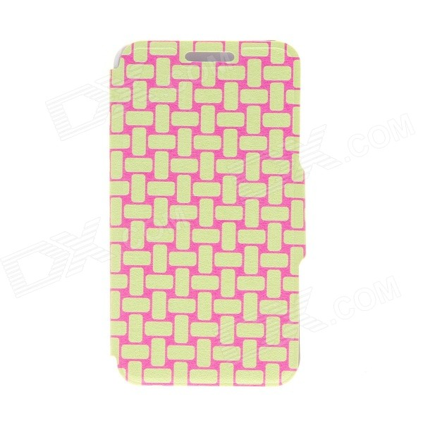 Kinston Knitting Color Pattern PU Leather Full Body Cover Case w/ Stand for IPHONE 6 4.7 kinston trojan girls pattern pu leather full body case with stand for iphone 6 4 7 pink yellow