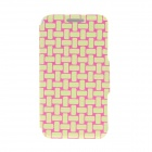 Kinston Knitting Color Pattern PU Leather Full Body Cover Case w/ Stand for IPHONE 6 4.7""