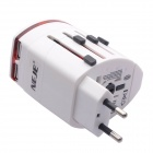 NEJE Multi-in-1 Universal Travel Adapter & Dual USB Charger - White
