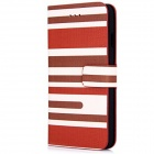 "Stripe Pattern PU Leather Flip Case w/ Stand + Card Slot + Auto Sleep for IPHONE 6 4.7"" - Brown"