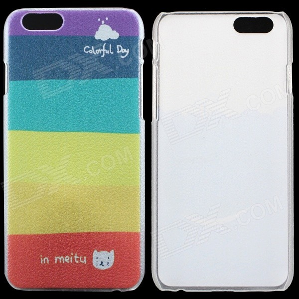 PC Thin Protective Back Cover Case for IPHONE 6 4.7 - Multicolored thin hard protective back cover case for iphone 6 4 7 cyan multicolor