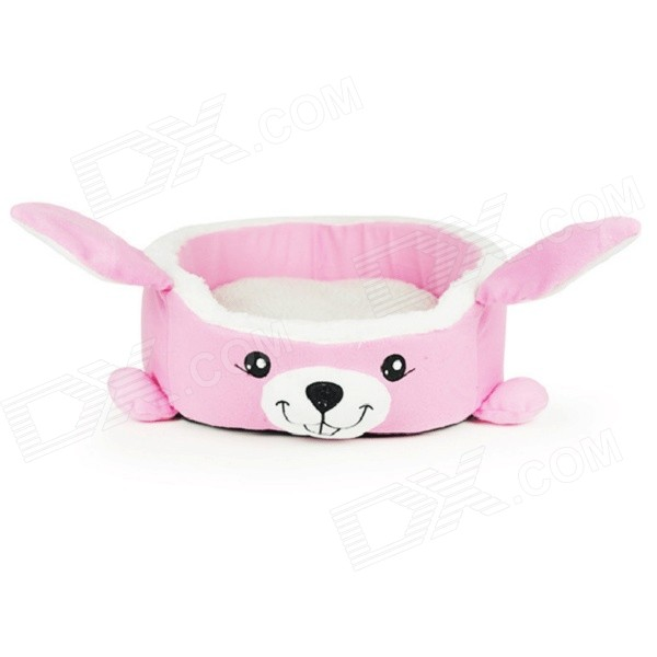 High Quality Fashion Rabbit Style Pet Bed - Pink + White + Black (Size M)