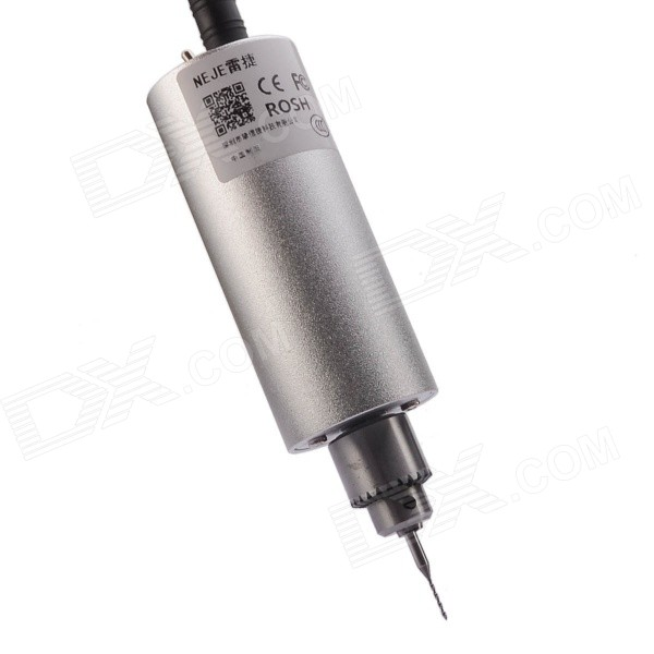 NEJE AH0002-7 Mini DIY PCBA Electric Drill w/ 0.1mm~1.0mm Drill Bits - Silver [for 350mm or 370mm length diamond core drill bits] adapter connector sds plus to m22 for electric drill machine free shipping