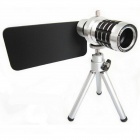 "12X Zoom Telephoto Lens w/ Tripod Mount + Back Case for IPHONE 6 4.7"" - Black + Silver"