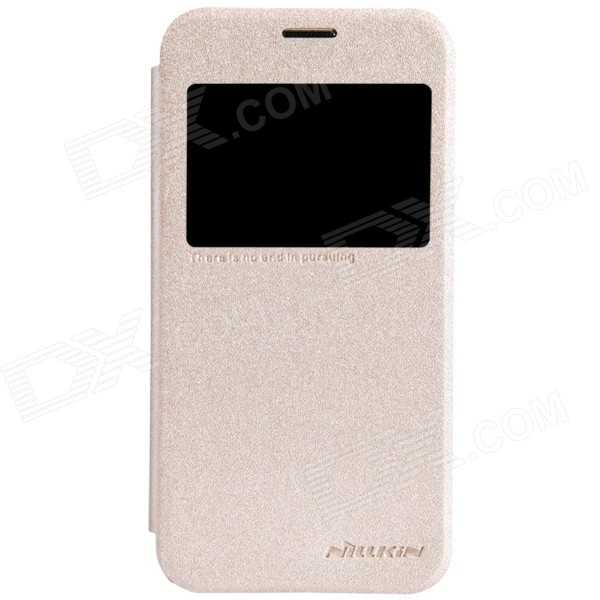 NILLKIN Protective PU Leather + PC Case Cover for Samsung Galaxy S5 Mini - Golden чехол для samsung g900f g900fd galaxy s5 nillkin sparkle leather case белый