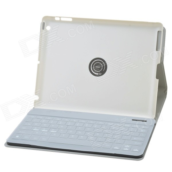 Separable Design 360 Degree Rotation Bluetooth V3.0 89-Key Keyboard w/ Case for IPAD 2/3/4 - Silver laptop keyboard for acer silver without frame bulgaria bu v 121646ck2 bg aezqs100110