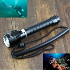 UltraFire WG-004 2500lm 3-LED Cool White Dimming Diving lanterna-Preto (2 x 18650)