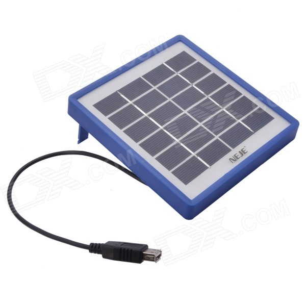 NEJE Portable Outdoor Solar Charging Board Panel for Phone - Blue
