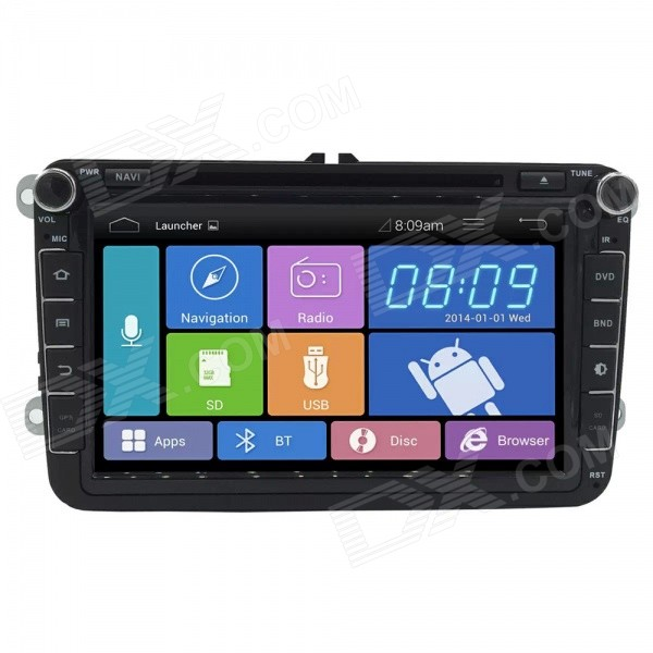 8 2 Din Android 4.1 Capacitive Screen Car DVD Player w/ BT ,WiFi,OBD2,GPS,Radio,SWC for VW SKODA 2 din car radio mp5 player universal 7 inch hd bt usb tf fm aux input multimedia radio entertainment with rear view camera