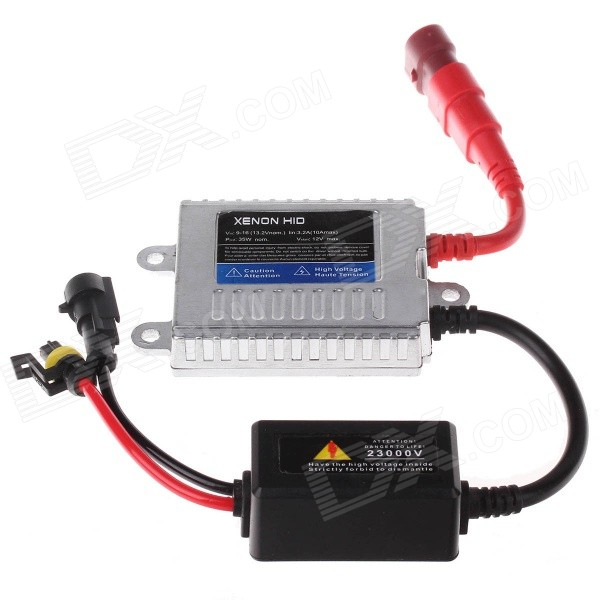 TANYUEZHE 12V 35W HID Fast Startup Ballast - Black + Sliver + Red