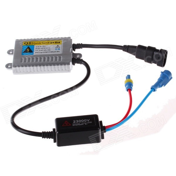 TANYUEZHE 12V 55W HID Fast Startup Ballast - Black + Sliver