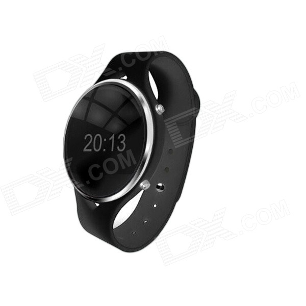 Smart 0.97 OLED Bluetooth v3.0 Pedometer Wrist Watch w/ Voice Call - Black oled bluetooth v3 0 smart touch bracelet watch w music player call answering pedometer black