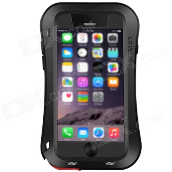 "LOVE MEI Shockproof Aviation Aluminum Alloy Case for IPHONE 6 PLUS 5.5"" -Black"